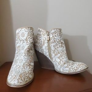 Very Volatile Lace Booties
